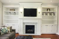 Fireplace & Built ins/paint it all white