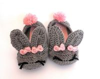 Bunny House Slippers - crochet