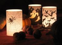 Free printable candle wrappers. Just print on plain paper for a vellum-like effect~~