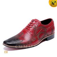 Men Leather Shoes   CWMALLS® Patent Lace-up Leather Shoes CW708206[Father's Day Gifts]