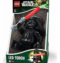 LEGO Lights Star Wars Darth Vader Torch White LED Torch. Lights in the base of each foot. Twisting head plus poseable arms and light angling legs. Complete with illuminating Lightsaber. Housed in a presentation (Barcode EAN = 4895028507817) http:/...