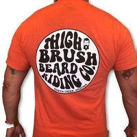 THIGHBRUSH® BEARD RIDING COMPANY - Men's Logo T-Shirt - Tangerine
