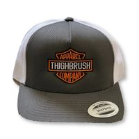 THIGHBRUSH® APPAREL COMPANY - Snapback Hat - Charcoal Grey and White
