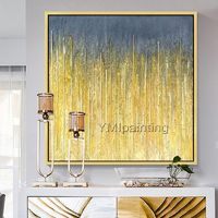 Gold line Original oil painting Abstract acrylic painting on canvas Wall Art wall decor pictures for living room huge size cuadros abstracto $104.75