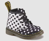 Dr Martens black & white dots. kids.