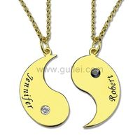 Gullei.com Matching Bff Necklaces Christmas Gift Set