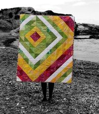 Lantana Sorbet Quilt by Chicken Julie. Love the colors!