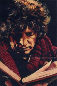 'Time to Read' by SpiritedPortraits (Carolyn Edwards) 4th Doctor