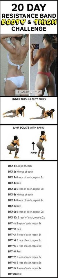How To Get A Bigger Butt Workout Using Resistance Bands -Bigger Butt Workout at Home For Women - This uniqe and intense routine is one of the best exercise for butt and thighs. After a week you will start to see noticeable changes! (How To Get A Bigge...