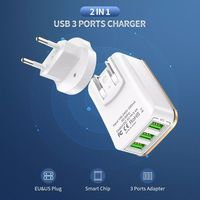 RAXFLY 3.4A 3 USB Ports EU US Plug 2 IN 1 Fast Charging Adapter Travel Charger For Xiaomi Mi9 HUAWEI P30 Mate30
