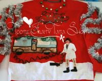 Ugly Christmas Sweater, cousin Eddie Shitter's Full National Lampoons Christmas Vacation Ugly Sweater, made to order.