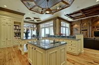 Dual island Kitchen, open to Family Room and Breakfast Room.