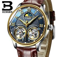 2017 Swiss Mechanical Men Watches Binger Role Luxury Brand Skeleton Wrist Sapphire Waterproof Watch Men Clock Male reloj hombre $113.67