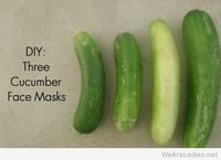 Cucumber face mask home made idea