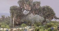 "Here's a sneak peek of the work being done to bring the world of AVATAR to life at Disney's Animal Kingdom! This new image shows what the magnificent floating mountains will look like when guests are welcomed into Pandora �€"" the my..."