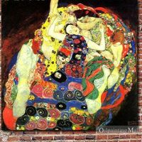 The Virgin By Gustav Klimt Handmade Oil Painting Reproduction