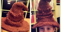 CRAFTYisCOOL: Free Pattern: Harry Potter Sorting Hat!