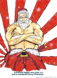 Strong santa claus picture