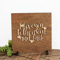 I Love You To The Moon and Back - Wood Sign $16.95 �œ�Handcrafted in the USA! �œ�