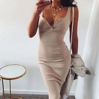Elastic Sleeveless Elegant Party Sexy Club Summer Knee-Length Women Dress,NEW,on Sale!