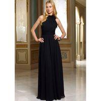 Elegant A-line Halter Ruching Floor-length Chiffon Bridesmaid Dresses - Dressesular.com