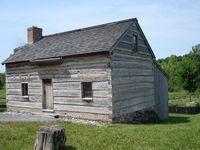After we hiked the Hill Cumorah we toured Joseph Smith's log home.