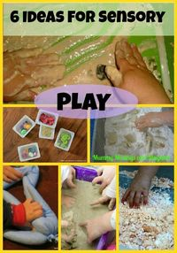 6 Easy Ideas for Sensory Play from The Weekly Kid's Co-Op!