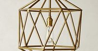 brass, geometric, pendant light - affordable #AnthroFave