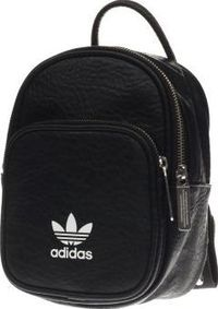 Adidas Black Backpack Classic X Mini Bags adidas serve up some serious 90s accessory vibes, with their Backpack Classic X Mini. The black faux-leather design features a front pocket with contrasting white Trefoil branding, complete with handy http://www.c...