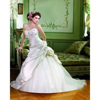 Honorable A-line Sweetheart Beading Lace Hand Made Flowers Sweep/Brush Train Satin&Tulle Wedding Dresses - Dressesular.com