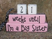 Big Sister Blocks Countdown Until I'm a Big Sister New Baby Gift Baby Shower on Etsy, $13.99