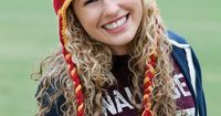 Show your team colors with a hat that can be knit up easily thanks to the self-striping yarn. It's a great hat for all to wear!