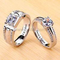 1.8 Carat Diamond Promise Rings Set with Engraving Platinum Plated https://www.gullei.com/1-8-carat-platinum-plated-diamond-promise-rings-set-with-engraving.html