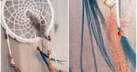 �–� Make a Dreamcatcher: Crochet, Feathers, and Beads - YouTube Look at this one for netting!