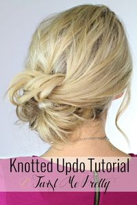 The highly anticipated knotted updo is finally live at Twist Me Pretty. Abby's video tutorial makes learning this style so easy. postand save for your next fancy night out!