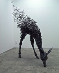 Tomohiro Inaba is a young artist who finished his graduate studies in 2010. He is attracted to iron as a material among other reasons because it begins to rust