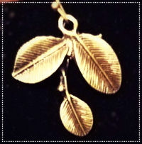 Yellow Swirl Fall Leaves Necklace and Earring Set $15.00