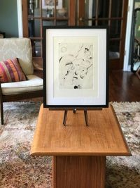 Vintage Abstract Black and White Drawing $110.00