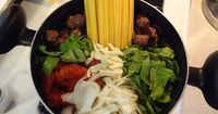 A Busy Familys Arsenal: One Pot Wonder Tomato Meatball Linguine