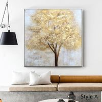 Gold Tree of life acrylic Paintings modern on canvas Large Original texture Wall Art Pictures for living room caudro $58.00