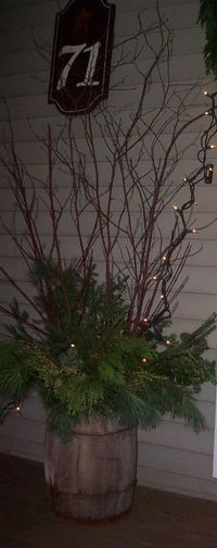 Christmas Porch Decorations, I am loving living in the country where I can find all fresh Christmas greens in my backyard! , , Porches Design