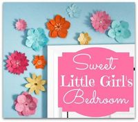 Sweet Little Girl's Bright and Cheerful Bedroom. Loads of creative DIY ideas that won't break the bank.