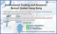 Bennet Global has been offering global trade execution and portfolio management services to a very diverse client base. We combine our vast knowledge of the markets with a highly experienced team of investment specialists who are dedicated to bringing the...