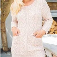 KNITTED TUNIC WITH POCKETS-FREE KNITTING PATTERN
