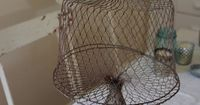 antique wire mesh cake stand. I love this.