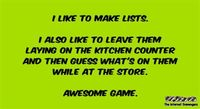 I like to make lists funny quote #funny #humor #lol #funnyQuote #PMSLweb