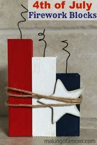 Here is an easy and cute 4th of July craft. After purchasing the kit it takes less than an hour before you have a darling patriotic craft for your home!