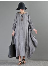 Linen dresses, Gray dress, Women's dress, Prom dresses, party dresses, Summer dress, Bridesmaid dress, Long dress