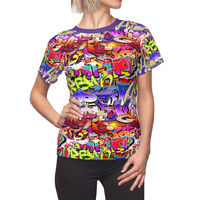 Graffiti Paint Women's Shirt Moisture Wicking Strong Elastic Fabric Vibrant Durable Colors Best Quality Pigment Inks Sizes XS - 2XL $21.99 https://www.etsy.com/shop/LAFabriKDesigns?ref=ss profile