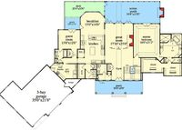 Mountain Ranch With Walkout Basement - 29876RL | Architectural Designs - House Plans
